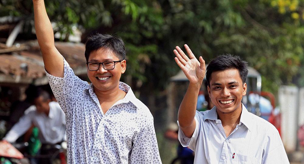 Wa Lone y Kyaw Soe Oo, periodistas de Reuters