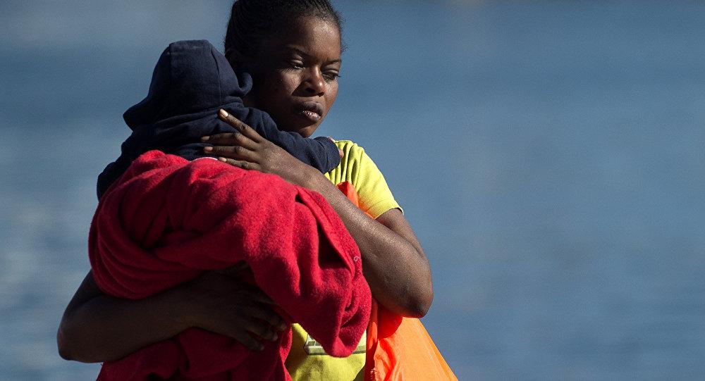 Una migrante de Libia (imagen referencial)