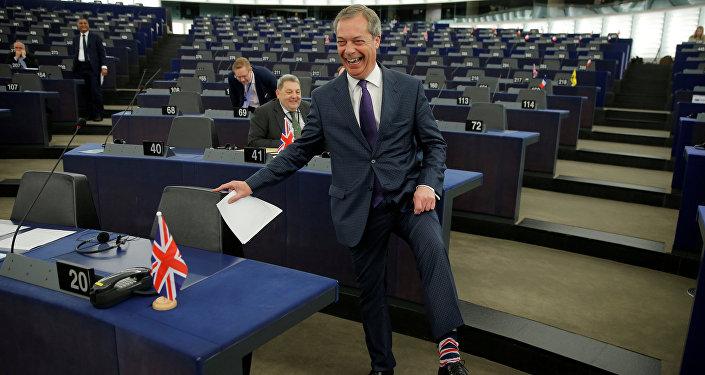 Nigel Farage, exlíder del Partido por la Independencia del Reino Unido (UKIP)