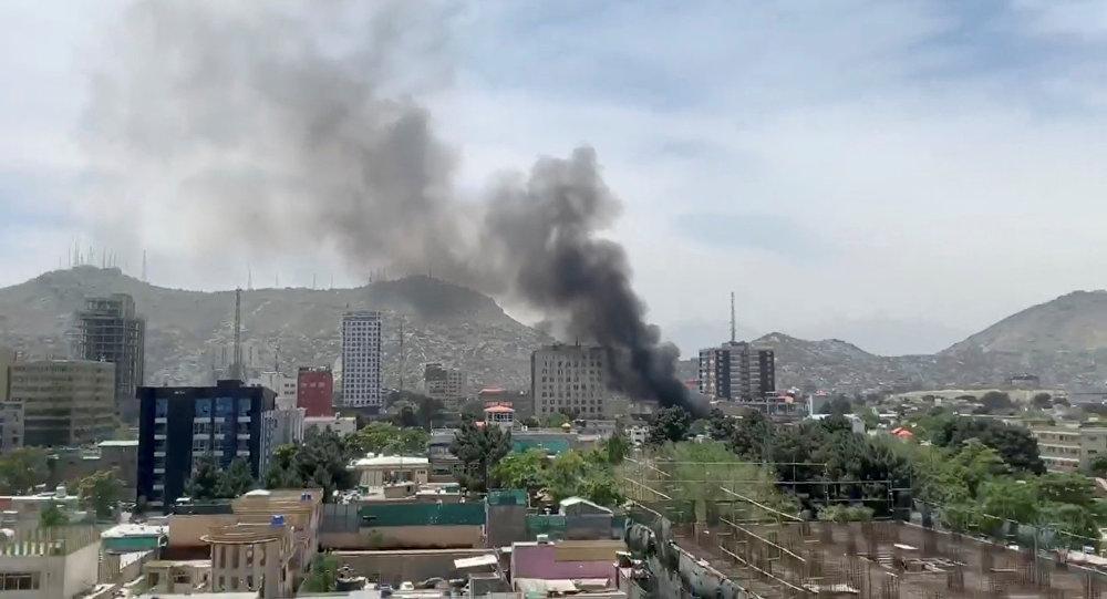 La explosión en Kabul, Afganistán