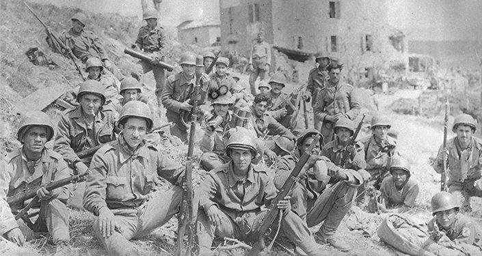 Soldados de la Fuerza Expedicionaria Brasileña en Italia