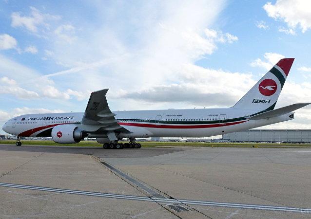 Un avión de Biman Bangladesh Airlines (imagen referencial)