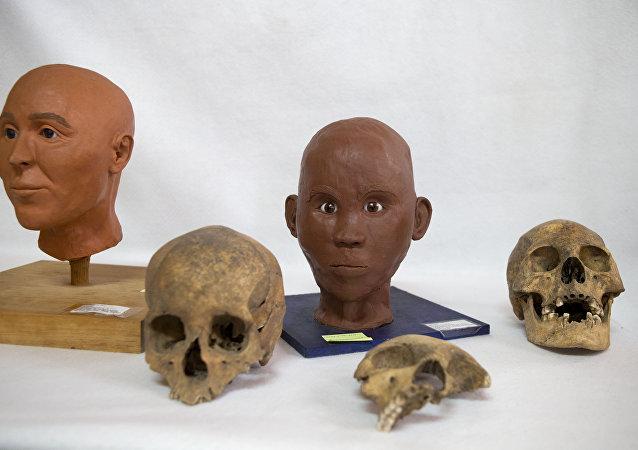 Los cráneos encontrados en el poblado prehispánico de Zultépec-Tecoaque