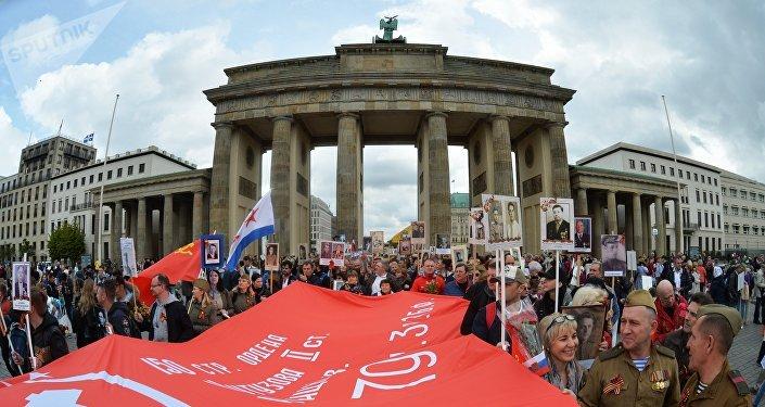 El Regimiento Inmortal en Berlín, Alemania