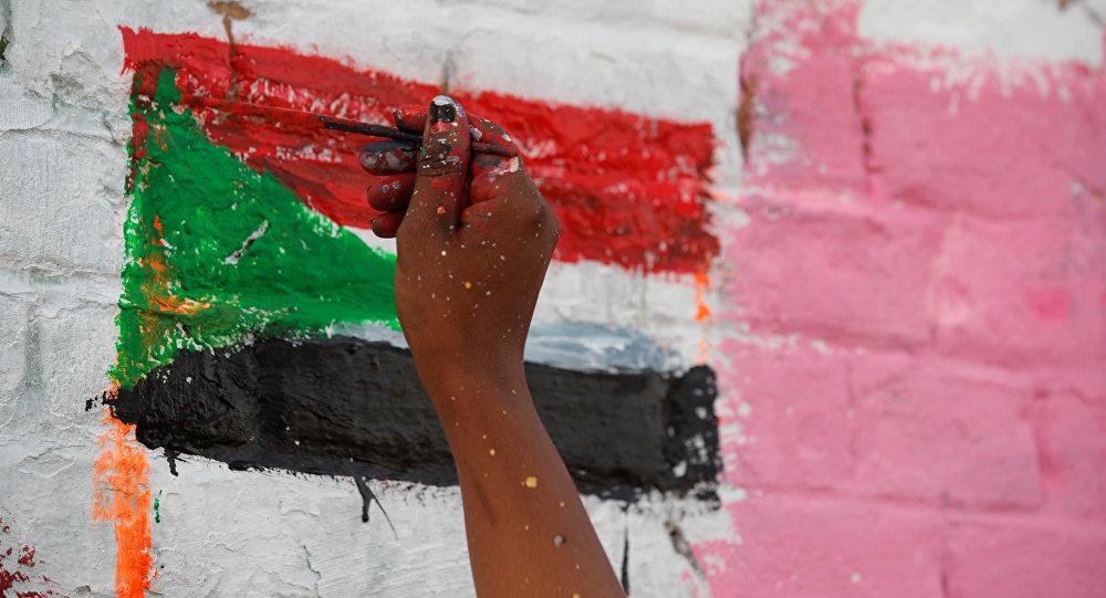 La bandera de Sudán