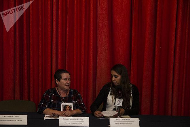 Evangelina Contreras y Laura María Orozco en conferencia de prensa