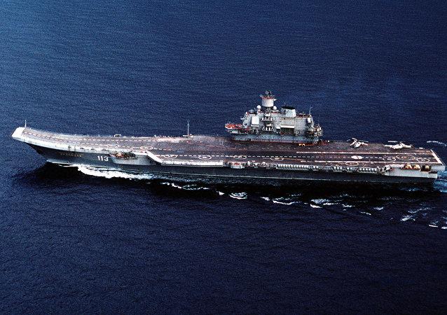 Portaviones de la Armada de Rusia Almirante Kuznetsov (imagen referencial)