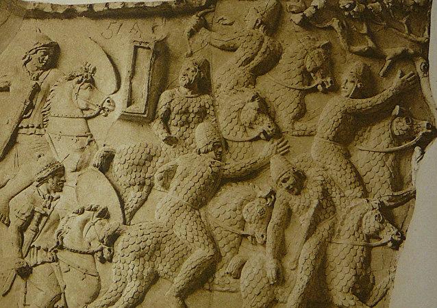 Los sármatas en un bajorrelieve de la Columna de Trajano