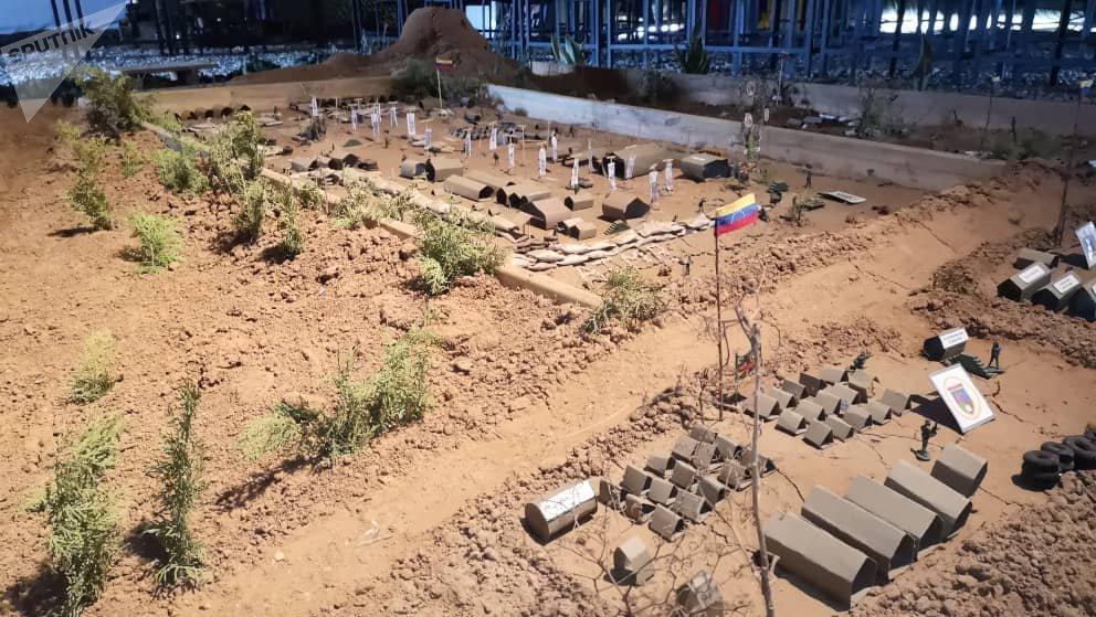 Maqueta de los terrenos del Pao, Academia Técnico Militar Bolivariana de Venezuela