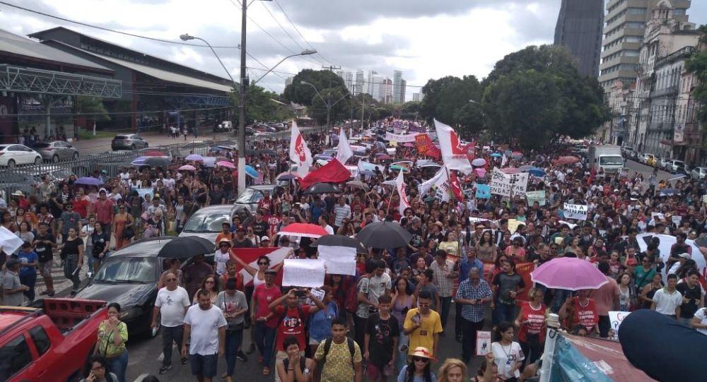 Movilización contra los recortes de la educación en Belém, Estado de Pará
