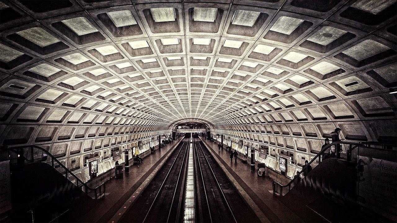Una estación del metro de Washington