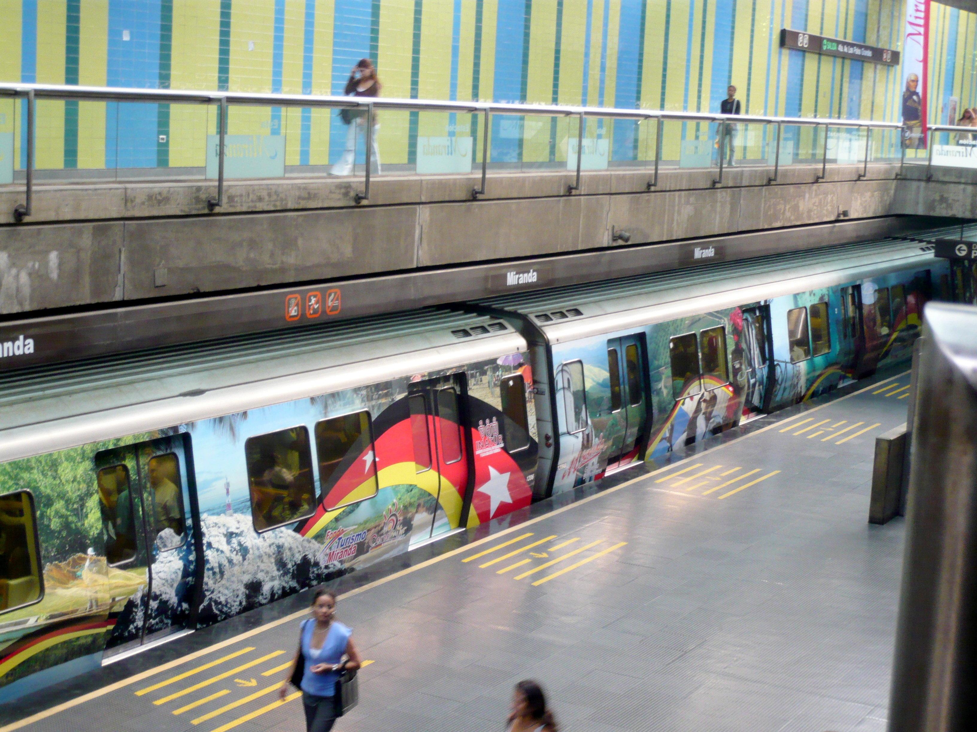 Metro en Caracas (imagen referencial)