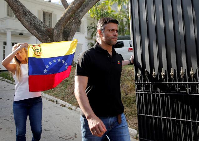 Leopoldo López, líder opositor venezolano en la Embajada de España