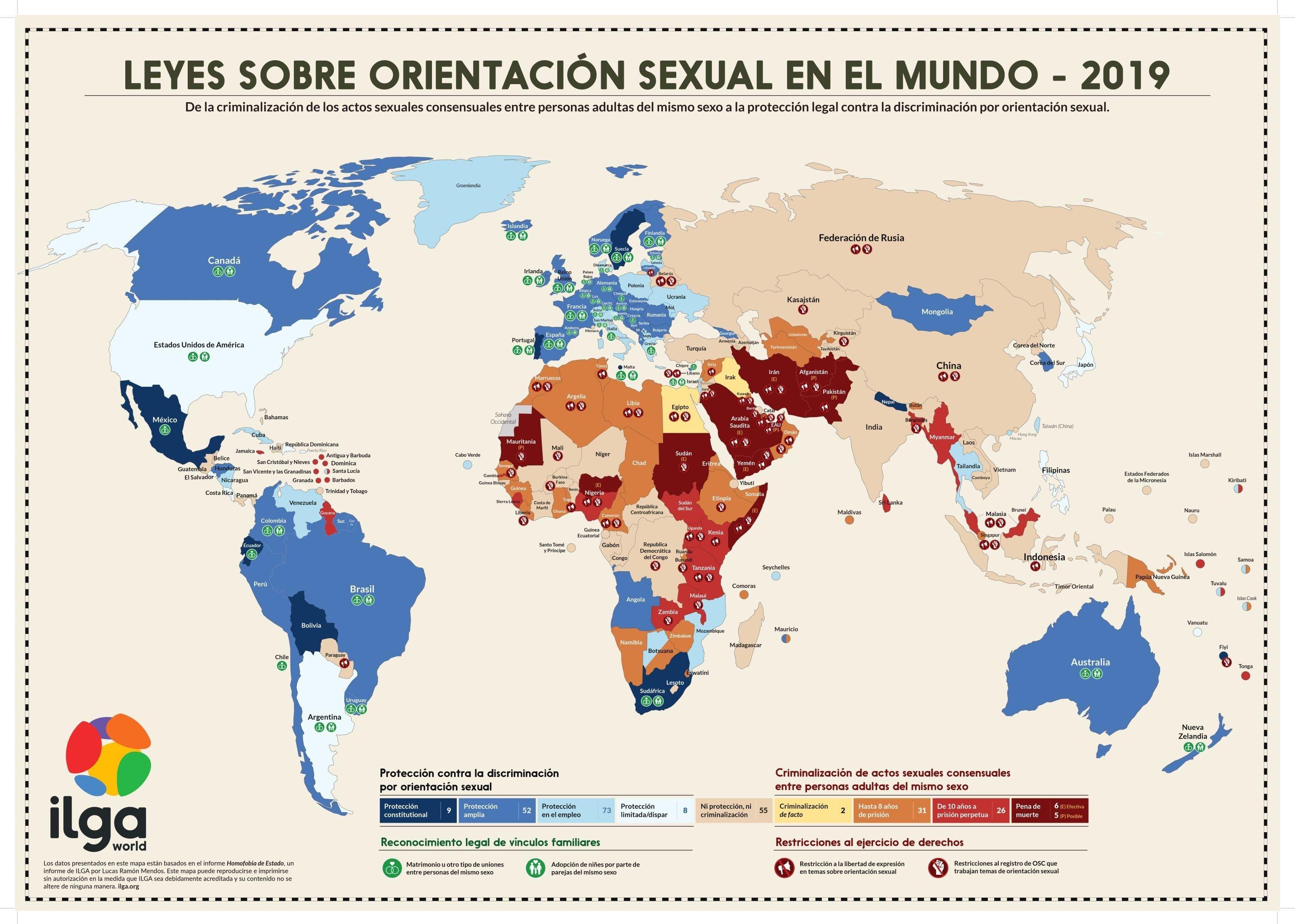 Mapamundi de la homofobia de Estado 2019  (clic para expandir)