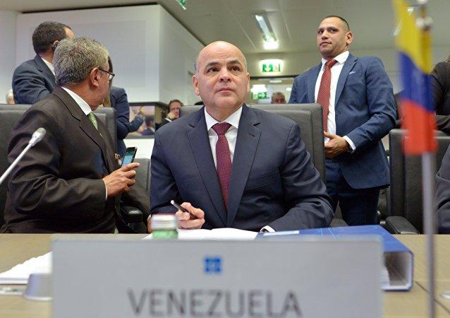 El ministro de Petróleo de Venezuela, Manuel Quevedo