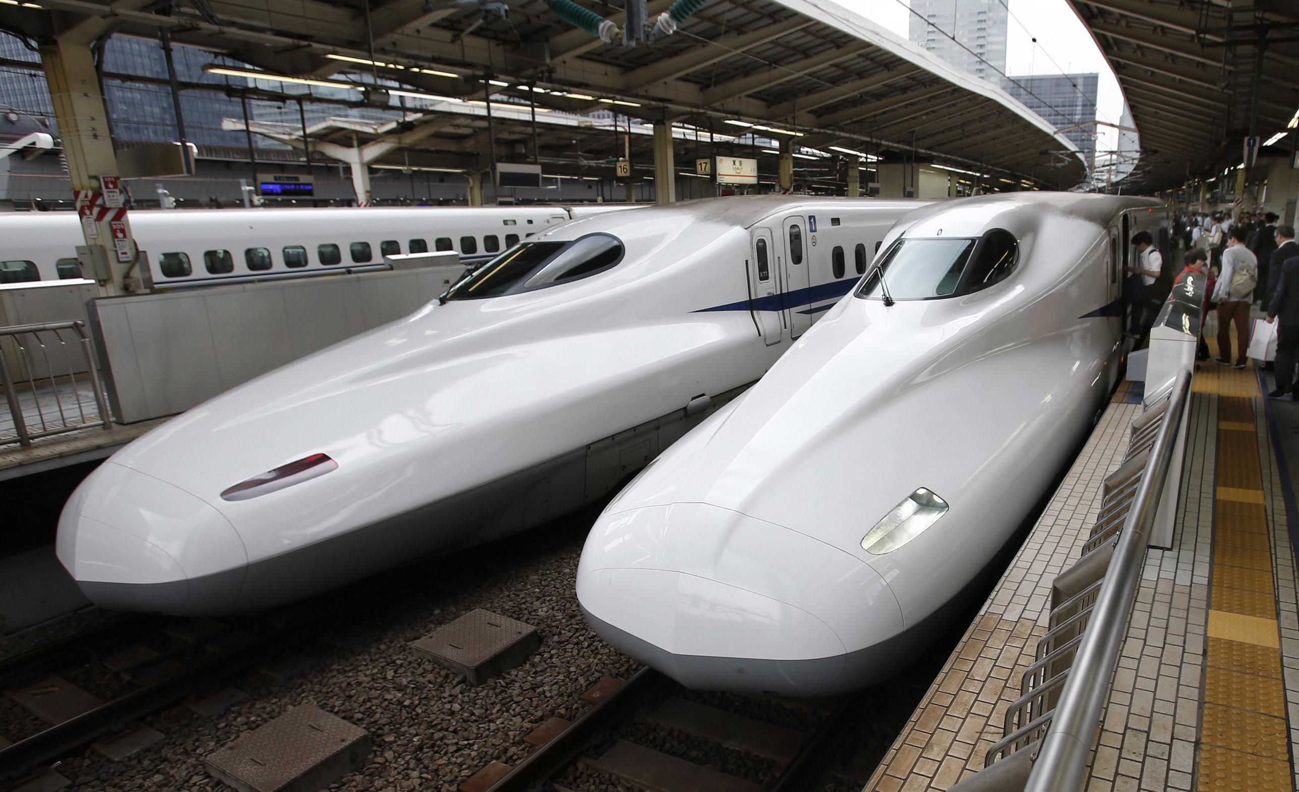 El Shinkansen en la estación de Tokio