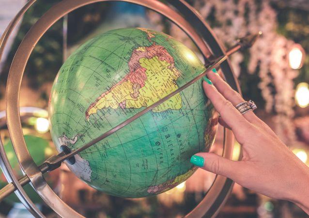 América Latina en un globo