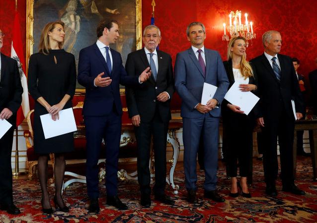Ceremonia de juramento del Gobierno de transición en Austria