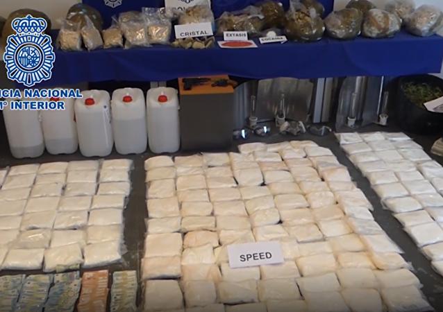 La Policía Nacional española incauta la mayor cantidad de metanfetamina de su historia