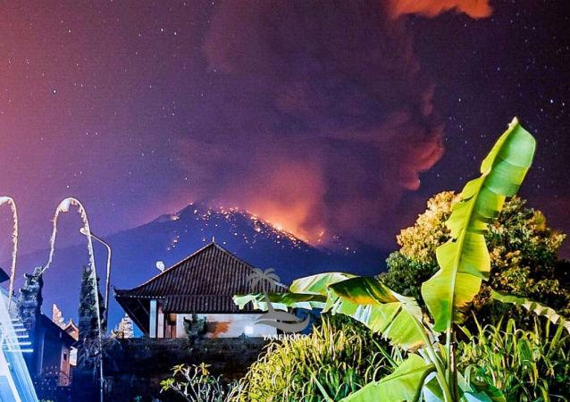La erupción del monte Agung