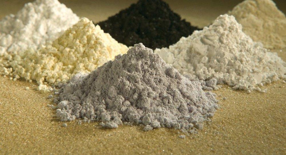 Praseodimio, cerio, lantano, neodimio, samario y gadolinio, todos tierras raras