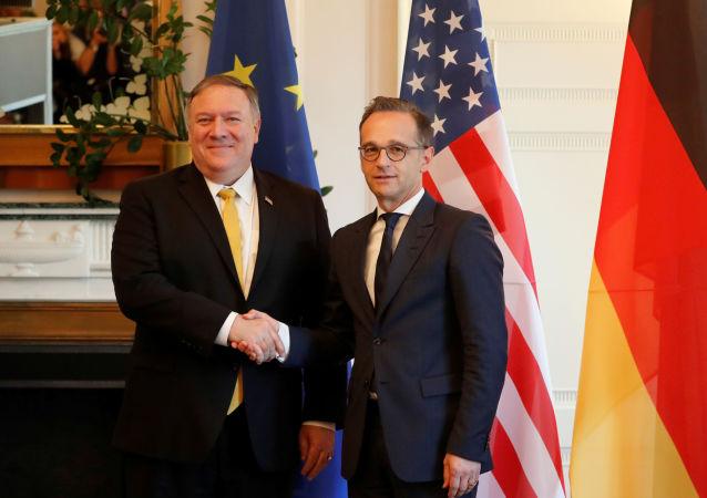 El secretario de Estado de EEUU, Mike Pompeo, y el ministro de Exteriores de Alemania, Heiko Maas