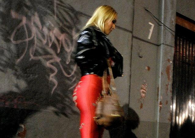 Una trabajadora sexual en las calles de la Ciudad de México