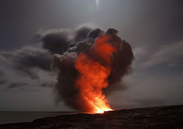 Un volcán, referencial