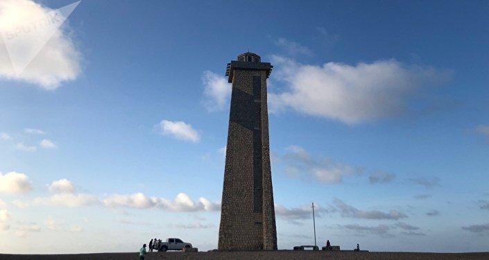El faro del Cabo de San Román, en el Estado Falcón, Venezuela