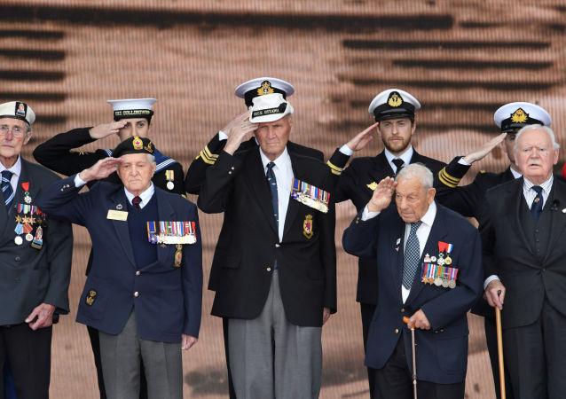 Los veteranos durante los actos conmemorativos del Desembarco de Normandía en Portsmouth