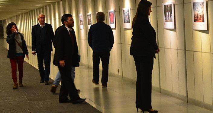 Exposición del concurso Andréi Stenin en Uruguay