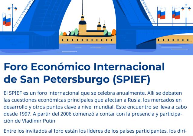 El Foro Económico Internacional de San Petersburgo 2019