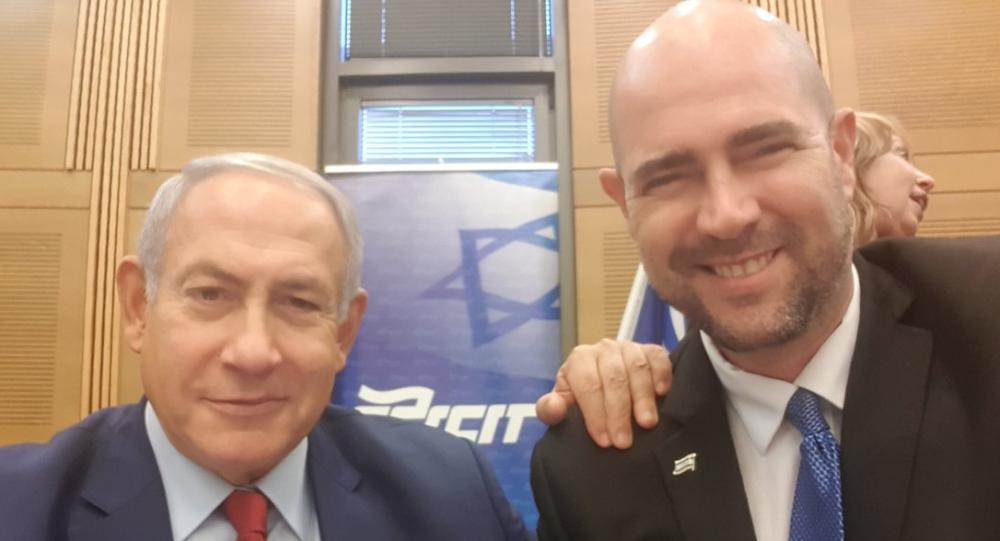 El primer ministro de Israel, Benjamin Netanyahu, y el ministro de Justicia, Amir Ohana