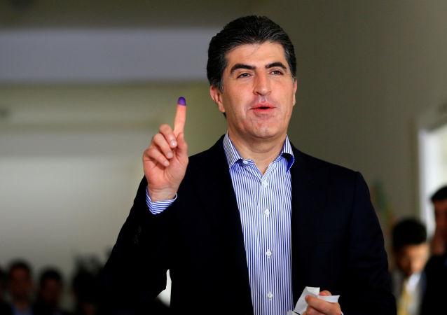 Nechirvan Barzani, el primer ministro de Kurdistán iraquí