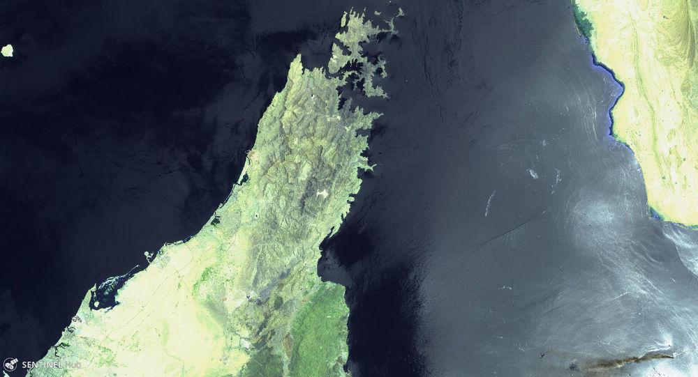 El golfo de Omán el día de los ataques contra dos petroleros el 13 de junio