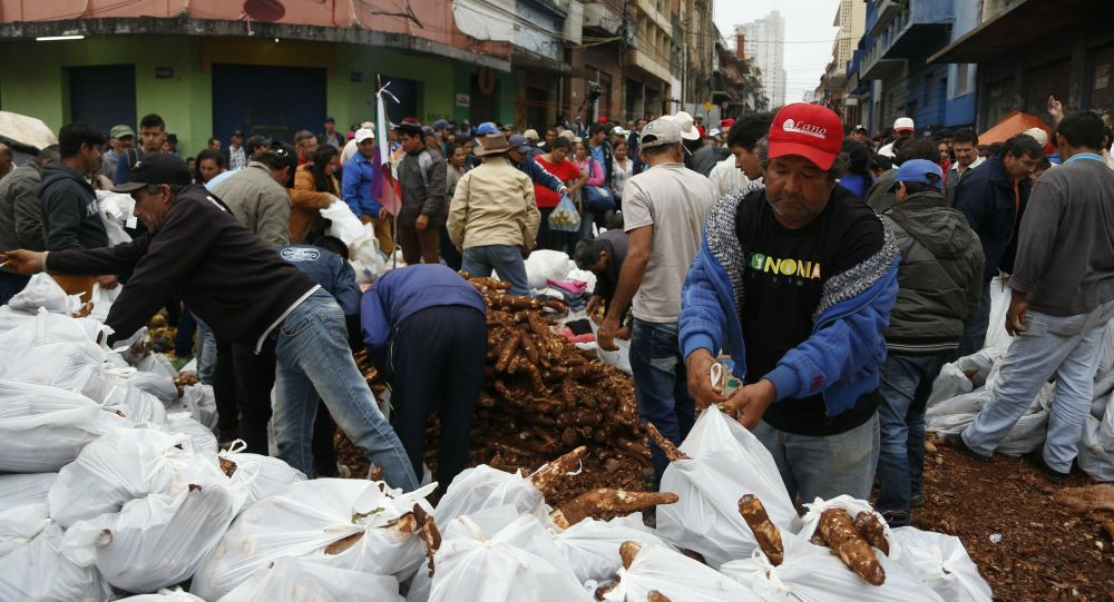 Protestas de campesinos paraguayos