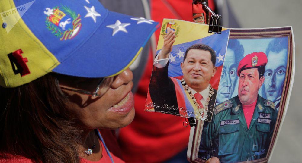 Simpatizantes del chavismo en Venezuela