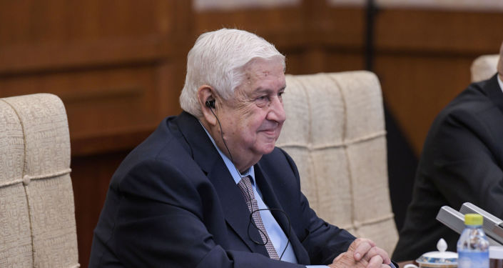 Walid Mualem, ministro de Exteriores sirio