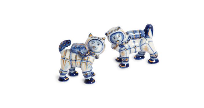 Figuras de porcelana de Belka y Strelka