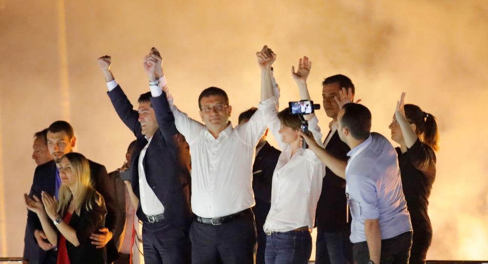 Ekrem Imamoglu, candidato del opositor Partido Republicano del Pueblo (CHP) de Turquía