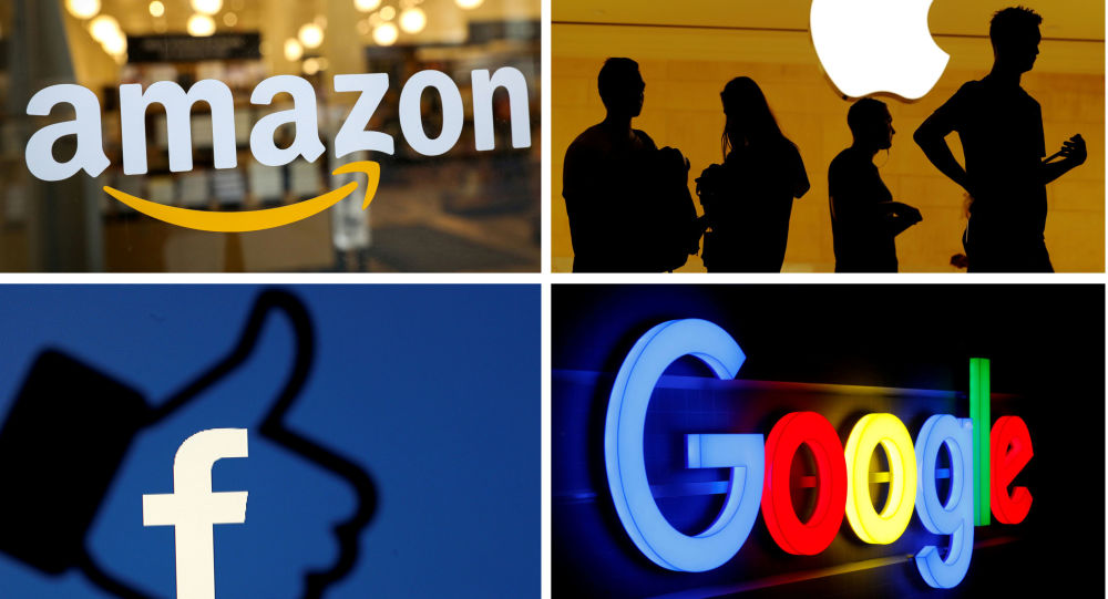 Los logotipos de Amazon, Apple, Facebook y Google