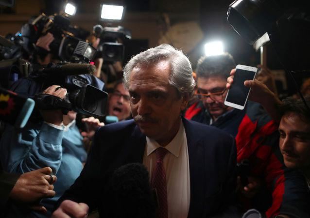 Alberto Fernández, candidato a la presidencia de Argentina