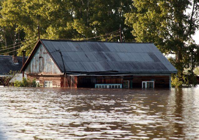 Inundaciones en Irkutsk, Rusia