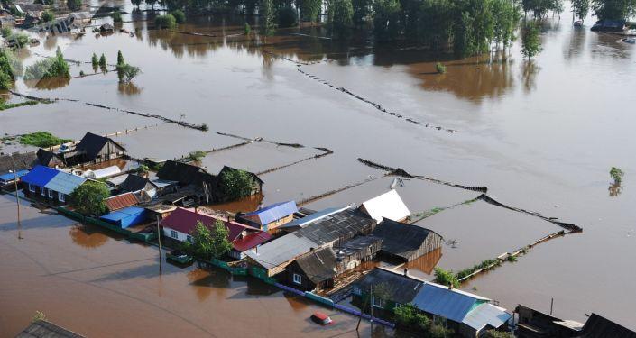 Inundaciones en Irkutsk, Siberia