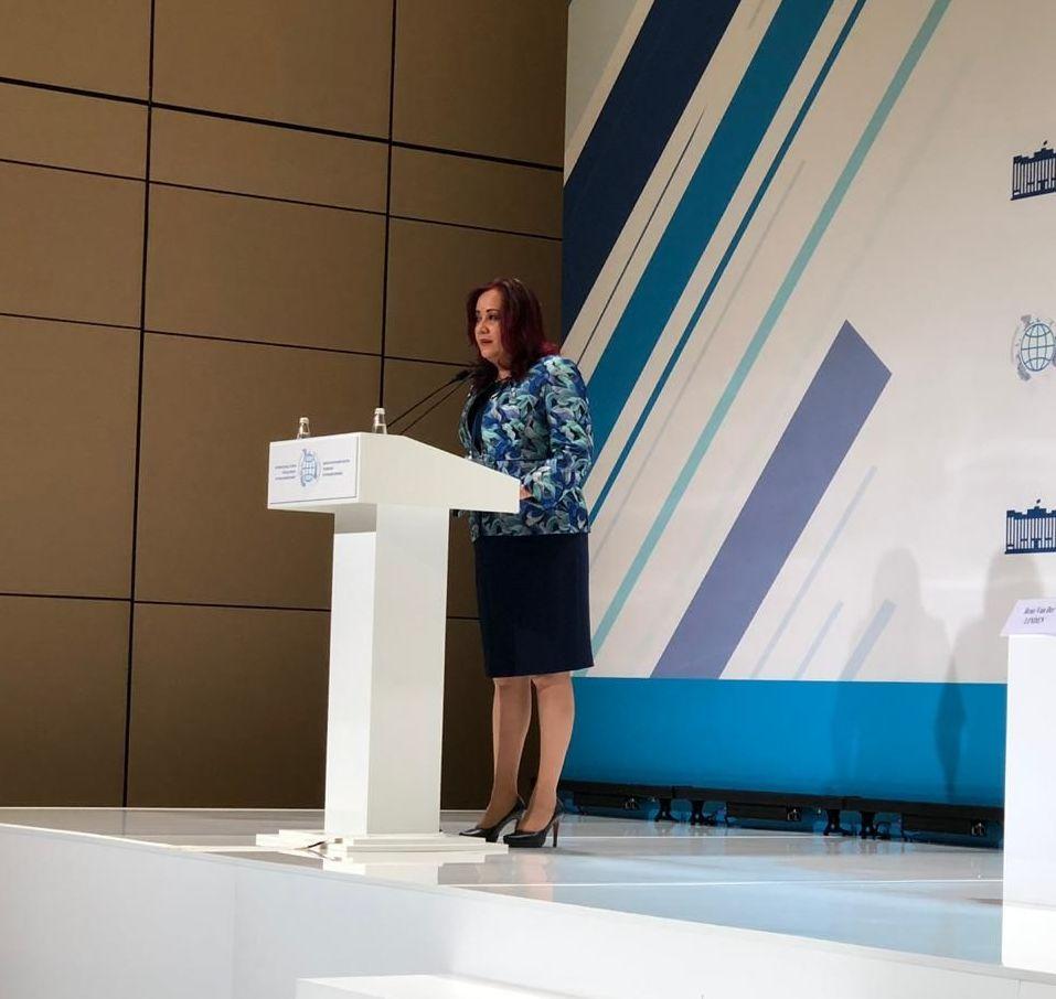 Cora Cecilia Pineda Alonso, la presidenta de la Comisión de Relaciones Exteriores Asia-Pacífico-África del Senado mexicano