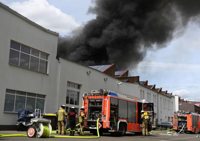 Incendio en el mercado Don Xuang Center en Berlín
