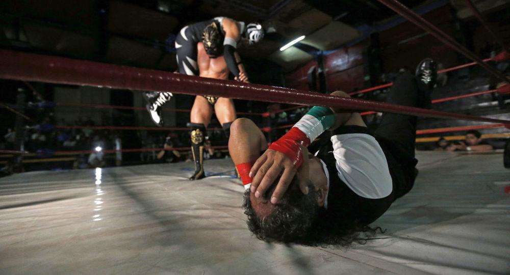 Lucha libre mexicana, foto de archivo