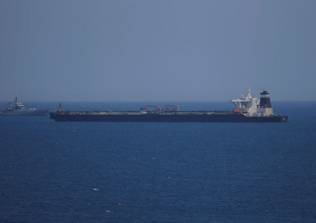 El buque petrolero detenido en Gibraltar