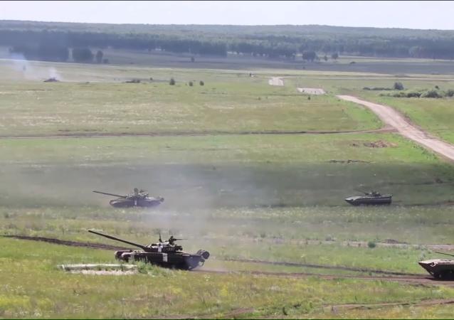 Los ejercicios de tanques de siete días se llevaron a cabo en el polígono de Chebarkul en la región rusa de Cheliábinsk.