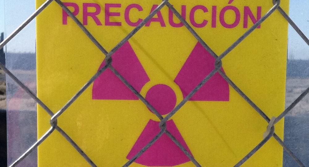Señal de área de materiales radiactivos (imagen referencial)